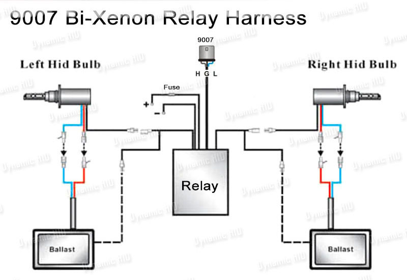 Hid Relay Wiring Harness Diagram : Hb bi xenon hid relay wiring harness w fuse ebay