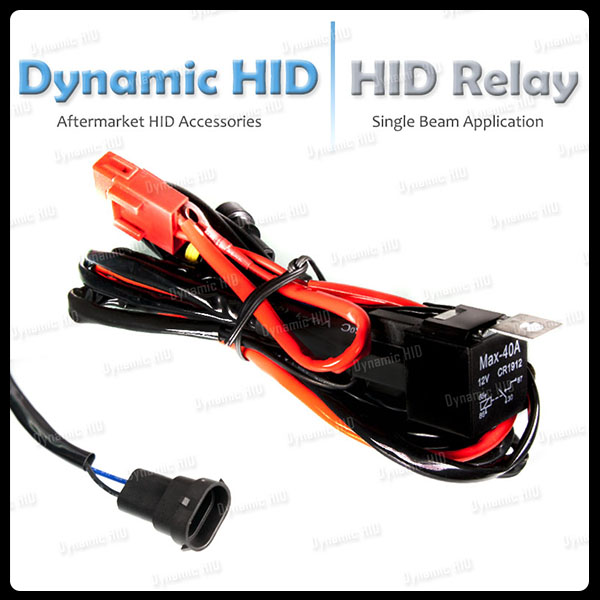 relay wiring harness w fuse for hid xenon kit head lights. Black Bedroom Furniture Sets. Home Design Ideas